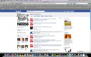 Nestle Facebook Fan Page