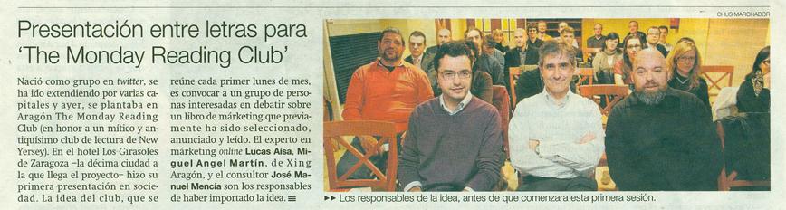 TMRC en el Periodico de Aragon