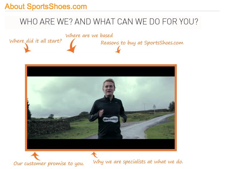 Video corporativo de SportsShoes.com