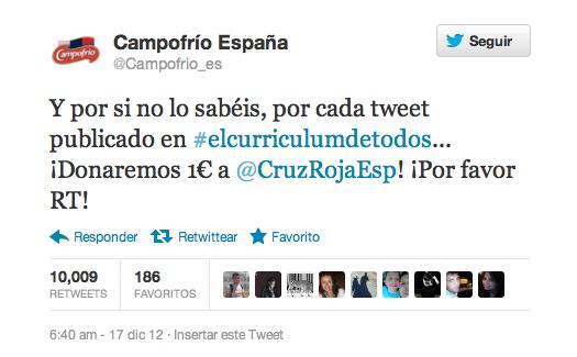 Tweet de Campofrio